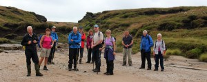 The irrepressible dozen at Kinder Gate  - don't forget the cameraman