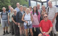 Kate and Naseem pose with the group at Edale station