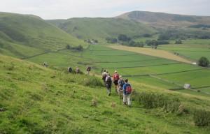 The steep descent into Castleton