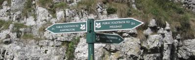 Wolfscote Dale signpost
