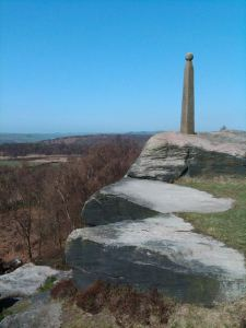 Birchen Edge  with a slim Nelson Monument