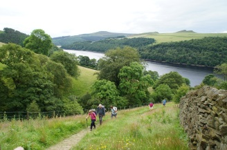 Ascending Grindle Clough from Ladybower