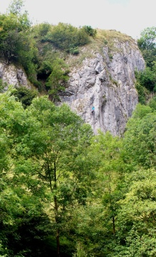 A climber in Dovedale