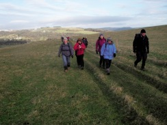Walking along Calver Low