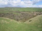 Climbing to Eyam Moor