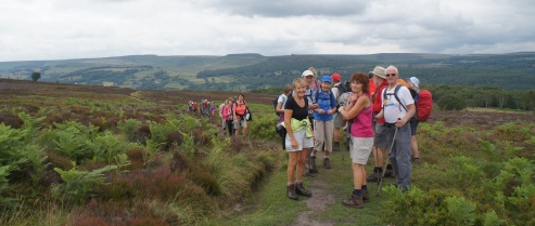 A happy group on Eyam Moor