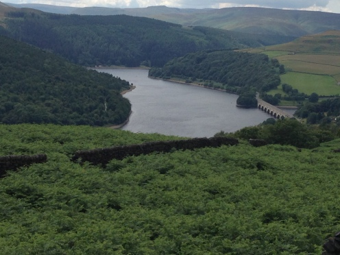 Ladybower Viaduct from Bamford Edge