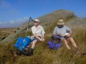 John H and Jim (our leader) at Kinder Rocks