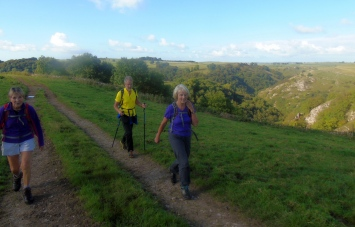 Margaret, David and Liz above Dovedale