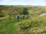 Descending into Cressbrook Dale