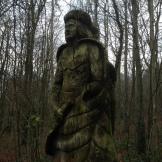Westwood carving in the December afternoon gloom