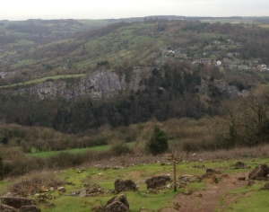 Looking back to Riber from the Heights of Abraham