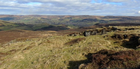 Towards Hathersage from Eyam Moor