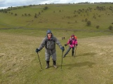 Graham and Marita ascending from Deep Dale