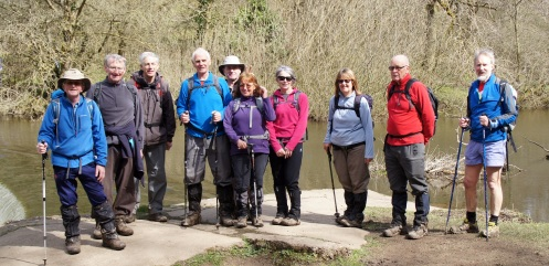 The happy gang at Monsal Dale