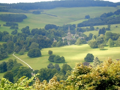 Edensor from the Hunting Tower