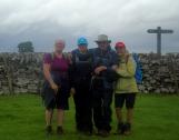 Maggie, Lorraine, John and Margaret leaving Narrowdale - before we got rained on - heavily.
