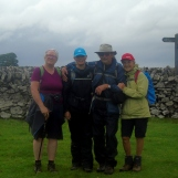 Maggie, Lorraine, John and Margaret leaving Narrowdale - before we got rained on - heavily.