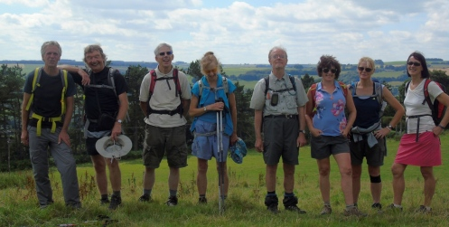The group in Chatsworth Park