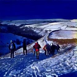 Winter walking at Hucklow