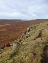 Coffee on Stanage Edge