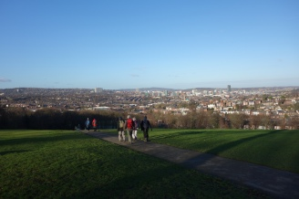 Meersbrook Park overlooking the city of Sheffield
