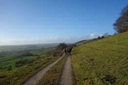 Fighting the wind on Longstone Edge