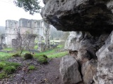 Roche Abbey from magnesium limestone outcrop