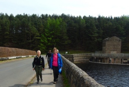 Crossing the dam at Errwood Reservoir
