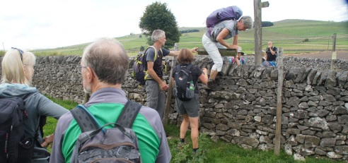 Negotiating a particularly awkward stile