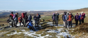 The group at Higger Tor