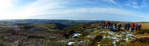 Panorama from Higger Tor