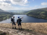 Derwent Reservoir and our guests from Stockport