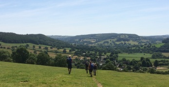 Descending to Beeley village