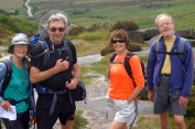 Dianne, John, Andrea, and Philip at Burbage Rocks