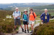 Mike, Dianne, Andrea, and Philip at Burbage Rocks