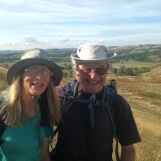 John and Diane on Narrowdale Hill making our way to Hartington