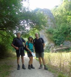 John, Diane, and Simon at Ilam Rock