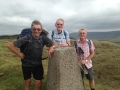 John N, Mike, and John H at Chinley Churn Trig Point