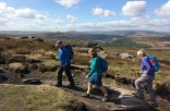 Near Stanage End with interesting view of Win Hill. Ladybower also visible.