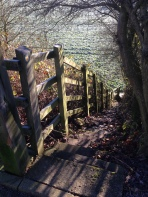 Footpath NE9 18/1 leading to the Calow Brook