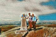 Three of the group on Back Tor