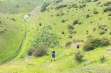 Climbing out of Cressbrook Dale just after the Peter Stone