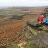 Lunch on the Edge - a cold breeze doesn't deter shorts
