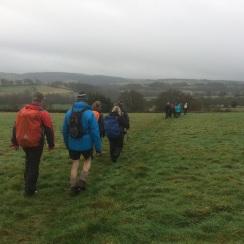 Crossing fields at Old Brampton